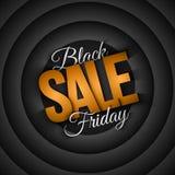 Fondo di vettore di vendita di Black Friday retro Fotografia Stock