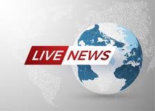 Fondo di vettore di notizie EPS10 Fotografie Stock