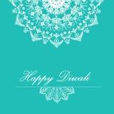 Fondo di vettore per Diwali con progettazione alla moda di rangoli del modello illustrazione di stock