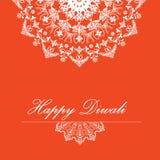 Fondo di vettore per Diwali con progettazione alla moda di rangoli del modello illustrazione vettoriale