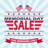 Fondo di vettore per la vendita di Memorial Day Progettazione dell'insegna di vendita di Giorno dei Caduti illustrazione vettoriale
