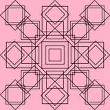 Fondo di vettore Quadrati su un fondo rosa royalty illustrazione gratis