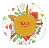 Fondo di viaggio. Fotografia Stock