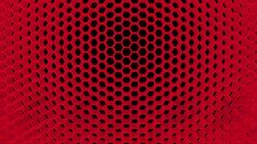 Fondo di vibrazione nel colore rosso illustrazione vettoriale