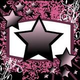 Fondo di Violet Stars Fotografia Stock