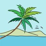 Fondo di vista sul mare royalty illustrazione gratis