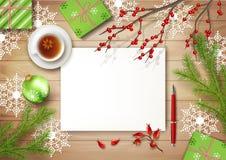 Fondo di vista superiore di vettore di Natale royalty illustrazione gratis
