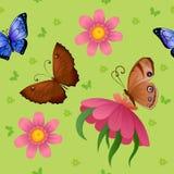 Fondo di volata variopinta delle farfalle Fotografie Stock Libere da Diritti