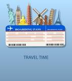 Fondo di voli e di viaggio illustrazione vettoriale