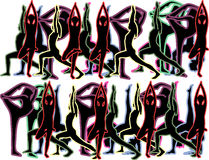 Fondo di yoga Immagini Stock Libere da Diritti