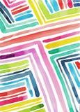 fondo diagonal de la acuarela de la tira del arco iris ilustración del vector