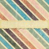 Fondo diagonal descolorado, dañado y rasgado de la raya Fotografía de archivo