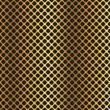 Fondo diagonale metallico nero dorato di griglia Immagini Stock