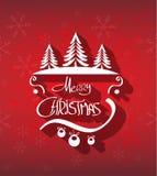 Fondo dibujado mano de la Feliz Navidad Imagen de archivo libre de regalías