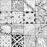 Fondo dibujado mano del zentangle para colorear el pag Libre Illustration