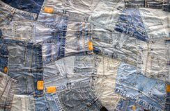 Fondo differente dei jeans del denim fotografia stock