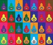 Fondo differente delle pere di colori royalty illustrazione gratis