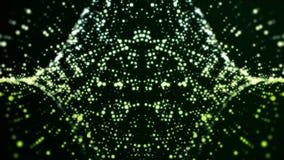 Fondo digital abstracto con las partículas de la mudanza y del parpadeo en fondo negro ilustración del vector