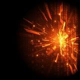Fondo digital abstracto de la tecnología, ejemplo del vector Imagen de archivo libre de regalías