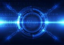 Fondo digital abstracto de la tecnología, ejemplo del vector Fotos de archivo
