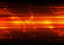 Fondo digital abstracto de la tecnología, ejemplo del vector Foto de archivo
