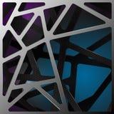 Fondo digital abstracto del carbono Vector Fotografía de archivo libre de regalías