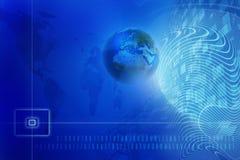 Fondo digital azul stock de ilustración