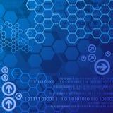 Fondo digital azul Imagen de archivo libre de regalías