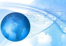 Fondo digital azul abstracto Stock de ilustración