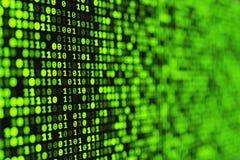 Fondo digital binario verde stock de ilustración