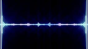 Fondo digital de la animación del espectro que brilla intensamente ilustración del vector