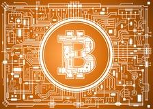 Fondo digital de la moneda de Bitcoin Imagen de archivo libre de regalías