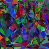 Fondo digital de la pintura del mosaico poligonal artístico abstracto Imagenes de archivo