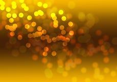 Fondo digital del bokeh abstracto del oro stock de ilustración