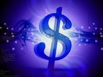 fondo digital del dólar 3d stock de ilustración