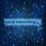 Fondo digital del establecimiento de una red social medios Imagenes de archivo