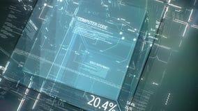 Fondo digital del programa del código de ordenador libre illustration