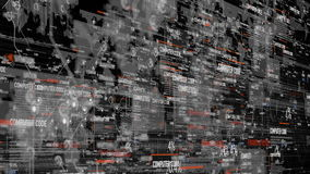 Fondo digital del programa del código de ordenador