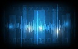 Fondo digital del vector y de alta tecnología abstracto del modelo Imagen de archivo