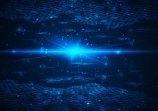 Fondo digital futurista con el espacio para el texto Imagenes de archivo