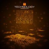 Fondo digital futurista con el espacio para el texto Foto de archivo libre de regalías