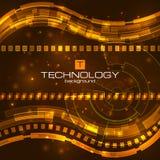 Fondo digital futurista con el espacio para el texto Fotografía de archivo