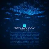 Fondo digital futurista con el espacio para el texto Imagen de archivo