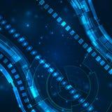 Fondo digital futurista con el espacio para el texto Foto de archivo