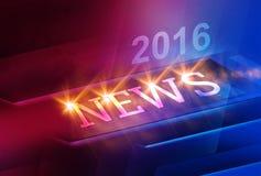 Fondo digital moderno gráfico de 2016 noticias de mundo stock de ilustración