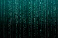 Fondo digitale astratto con il codice binario Pirati informatici, darknet, realt? virtuale e la fantascienza fotografia stock