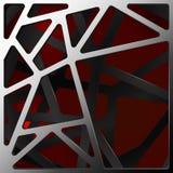 Fondo digitale astratto del carbonio su rosso Immagine Stock Libera da Diritti