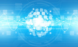 Fondo digitale astratto del collegamento di tecnologia del globo Immagini Stock Libere da Diritti