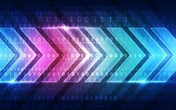 Fondo digitale astratto di tecnologia, illustrazione di vettore Immagini Stock Libere da Diritti