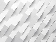 Fondo digitale bianco astratto, 3d illustrazione di stock
